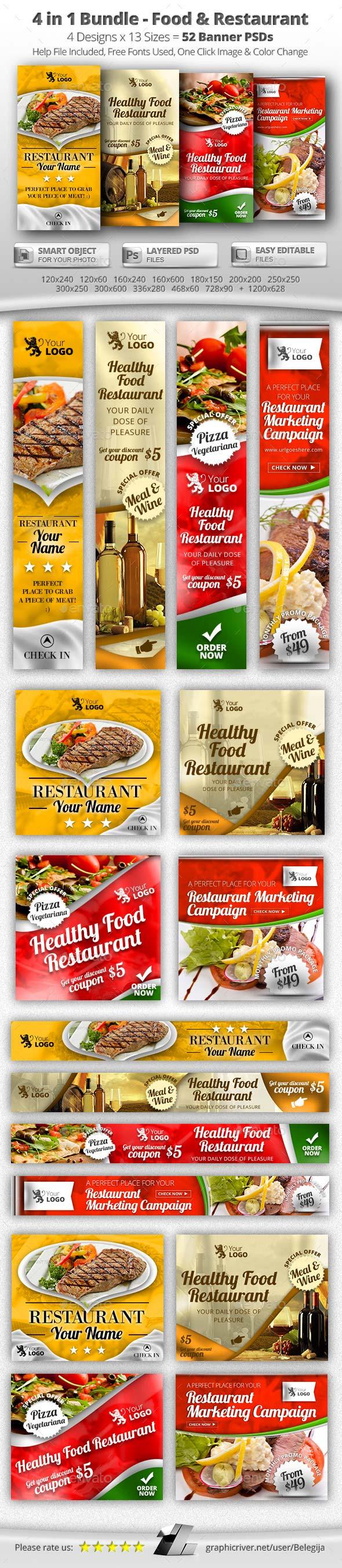 50 banners para restaurantes