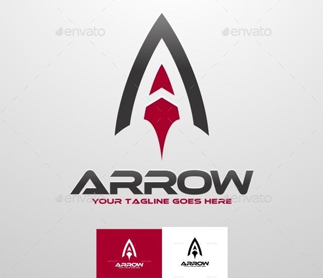 Plantilla logotipo letra A - tipo flecha