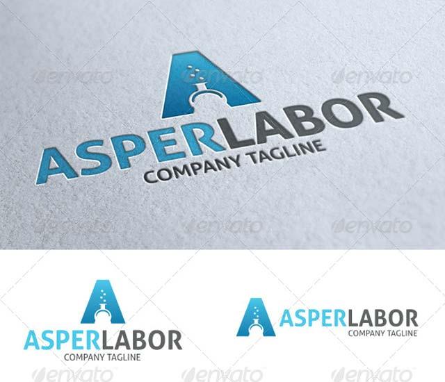 Plantilla logotipo letra A - Laboratorio