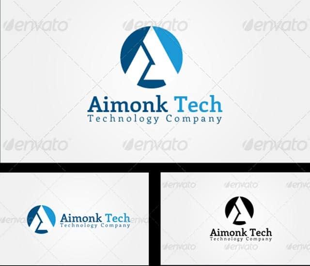 Plantilla logotipo letra A, tecnologia