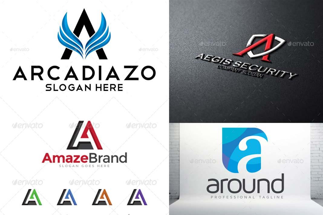10 logotipos con la letra a for Logos con letras