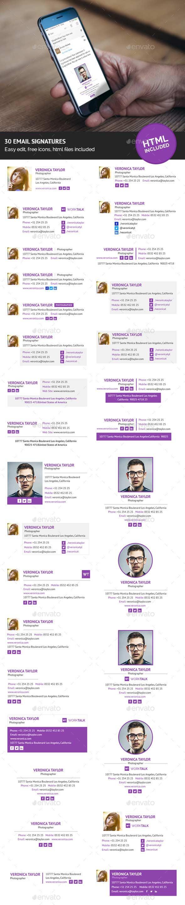 30 Firmas en HTML para el correo
