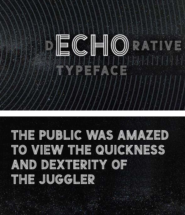 Descargar fuente ECHO Typeface
