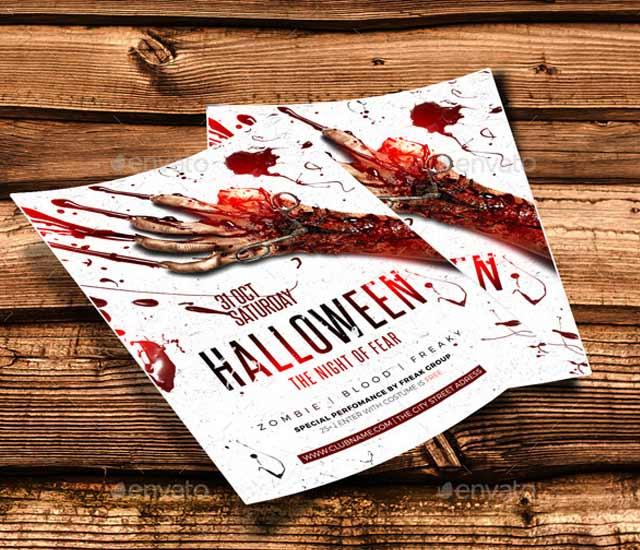 Diseño Flyer fiesta de Halloween.