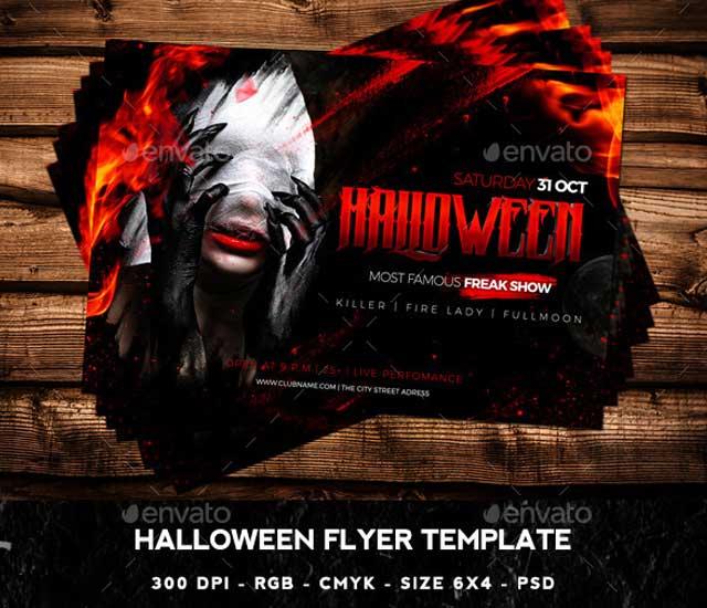 Diseño de flyer para Halloween.