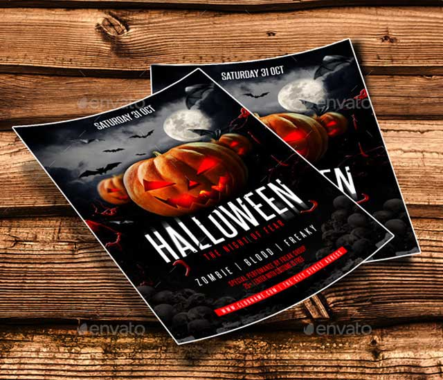 Diseño flyer para halloween