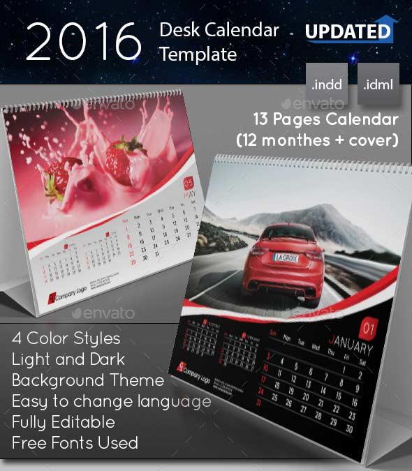 Calendario de Mesa con espiral - 2016