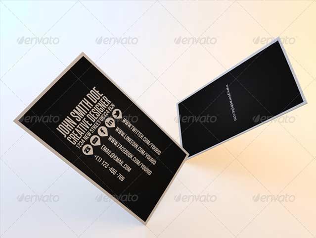 Diseño minimal de tarjeta de visita.