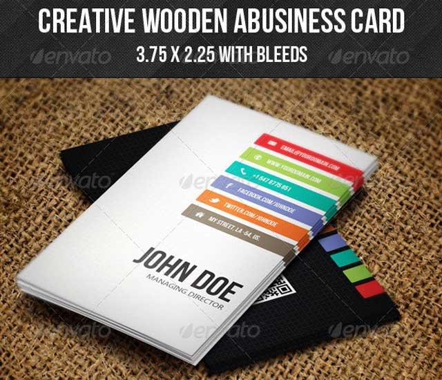 Diseño de tarjeta de visita estilo creativo