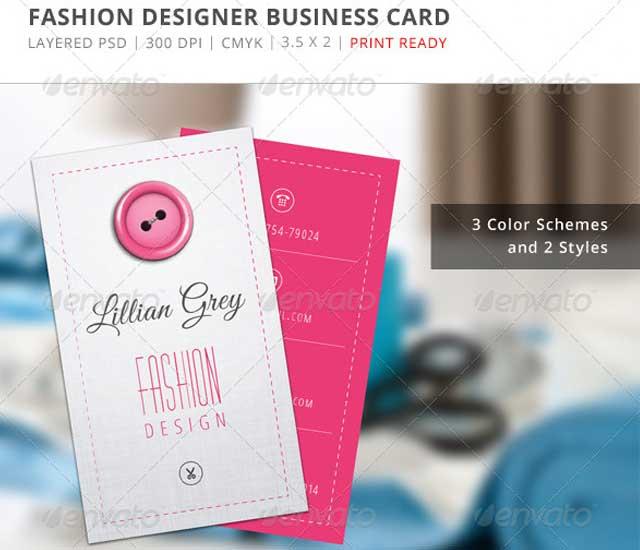 Diseño de tarjeta de visita diseñador de moda.