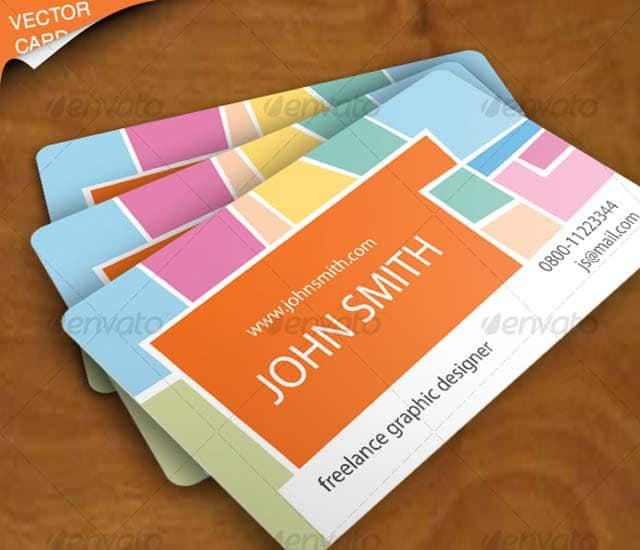 Diseño de tarjeta de visita para diseñador freelance.