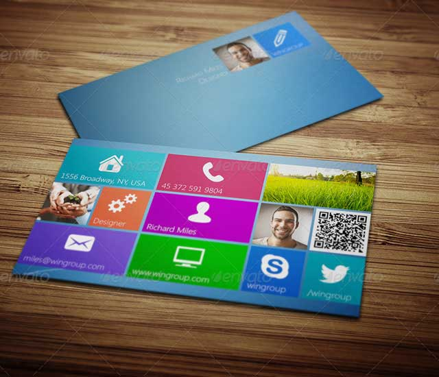 Diseño de tarjeta de visita Metro Business