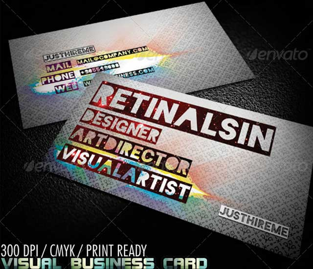"Diseño de tarjeta de visita ""visual business"""