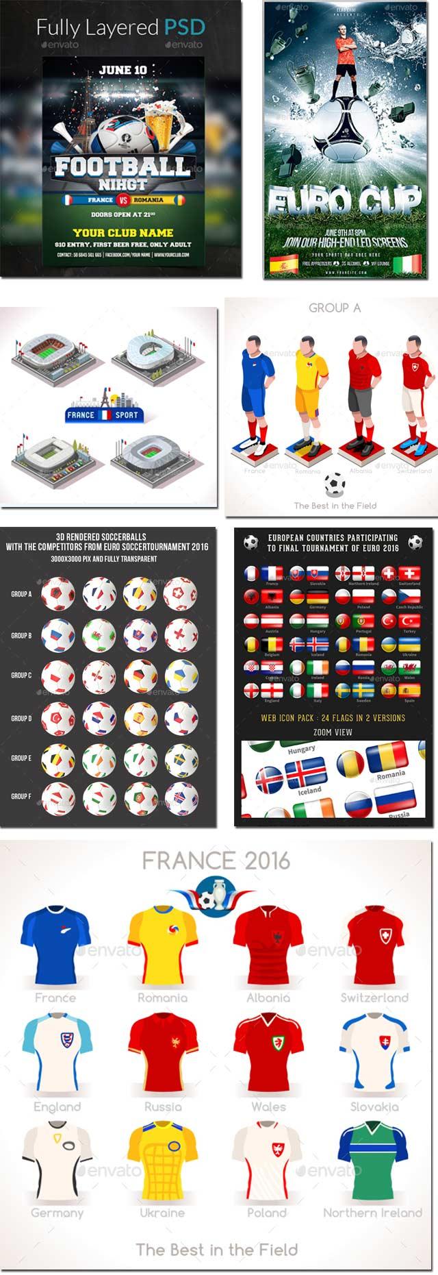 Diseños Eurocopa Francia 2016