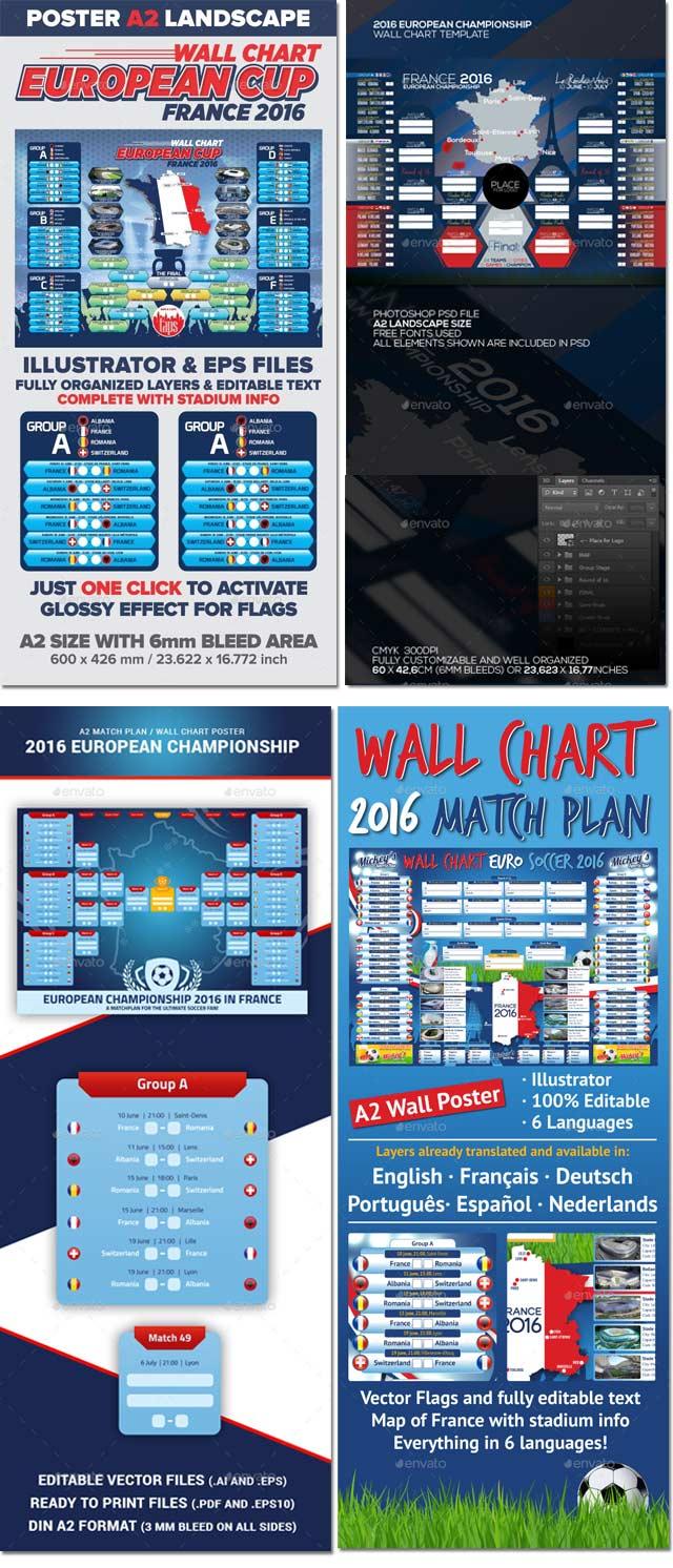 Diseños Poster Calendario Eurocopa 2016