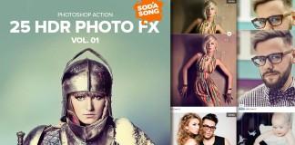 25 Acciones efecto HDR para Photoshop Volumen 1