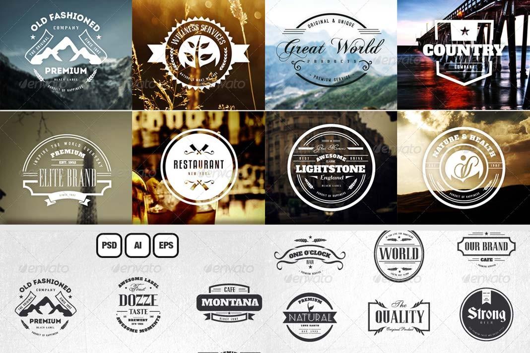 45 Diseños de etiquetas vintage.