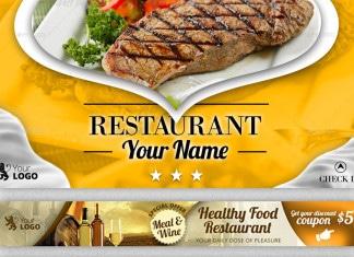 Colección de banners para restaurantes