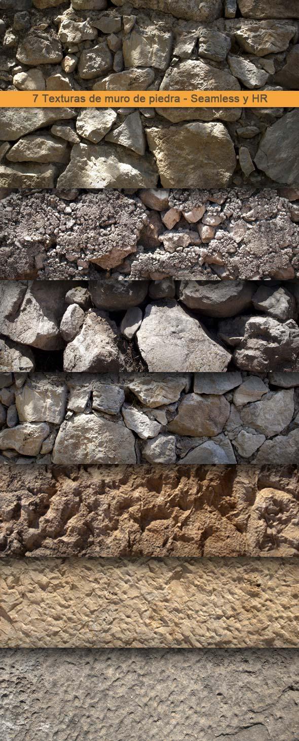 Texturas de muro de piedra. Vol.1