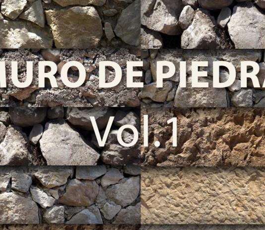 Texturas de muro de piedra seamless