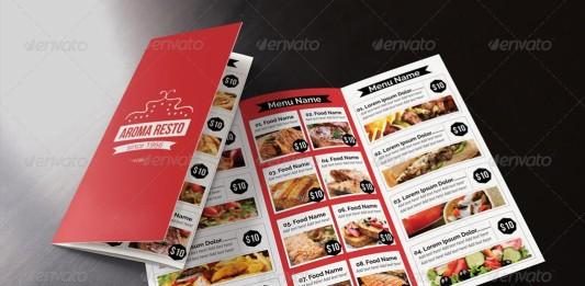 Plantillas de tripticos para restaurantes.