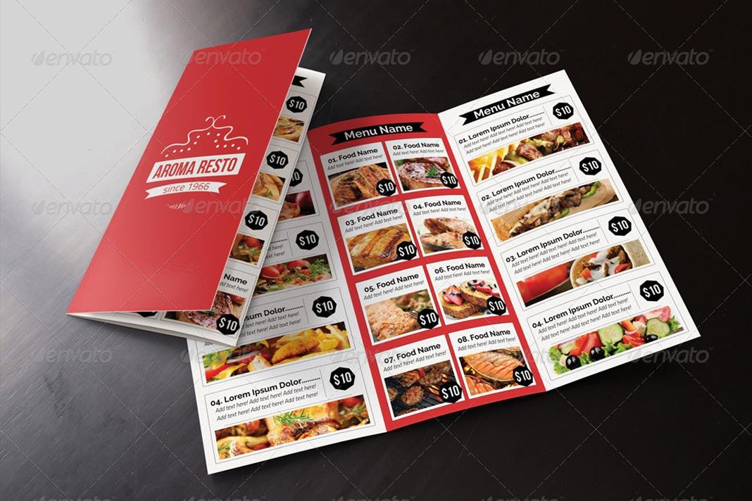 10 plantillas de trípticos para restaurantes - AV0.info
