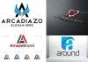 Plantillas de logotipos con la letra A