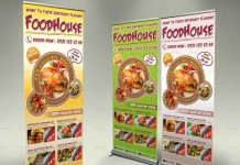 Plantillas de roller con diseños de comida rápida