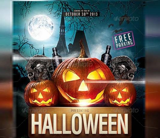 Diseños de Flyers para fiestas de Halloween.