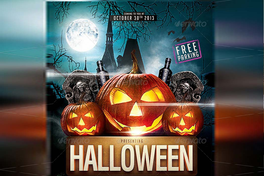 9 dise u00f1os de flyers para la fiesta de halloween