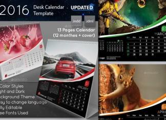 Plantillas de calendarios para 2016