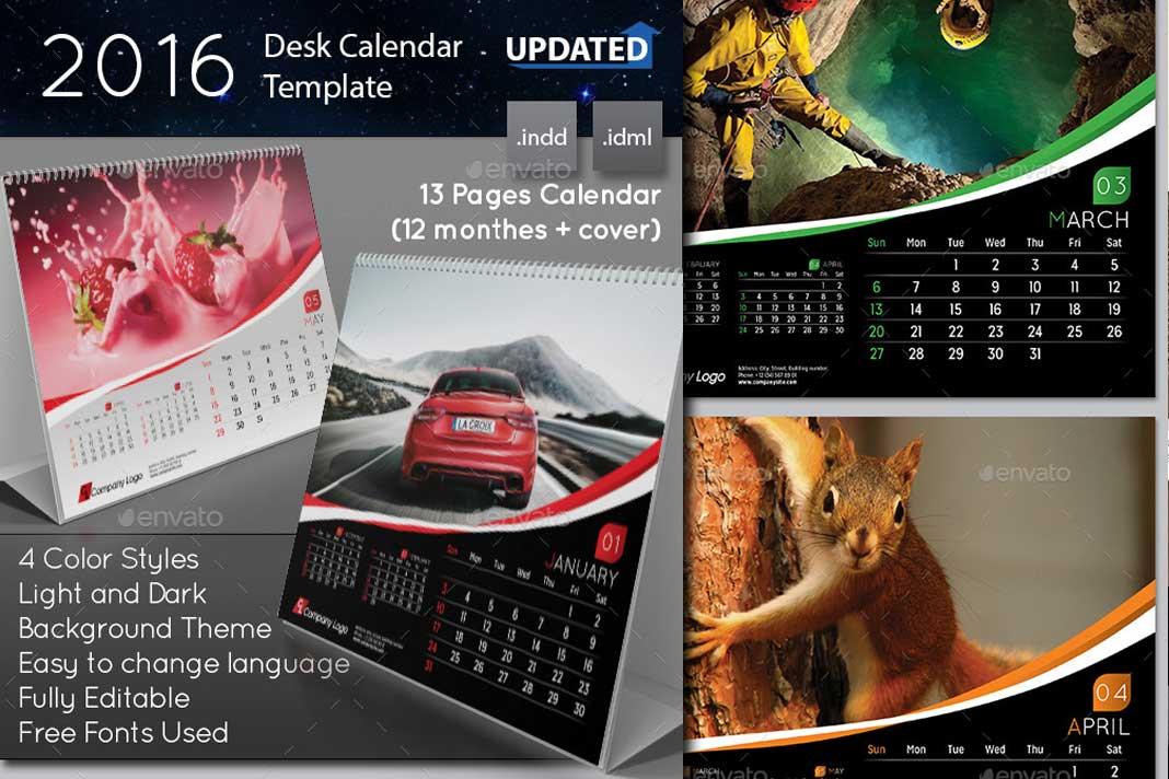 Dise os originales de calendarios para 2016 - Disenos de calendarios ...