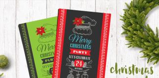 Diseños de Plantillas para Invitaciones de Navidad