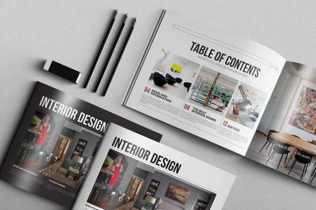 Plantilla con diseño de folleto creativo