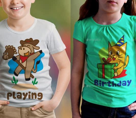 Plantillas de diseños de camisetas para niños.