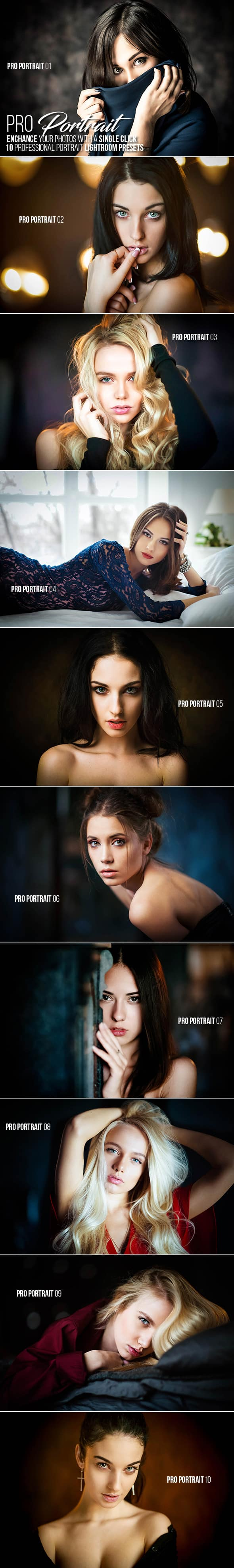 10 Presets para lightroom de retratos