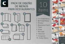 Descargar Pack diseño menus restaurentes