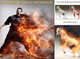 Acciones de efecto fuego para Photoshop