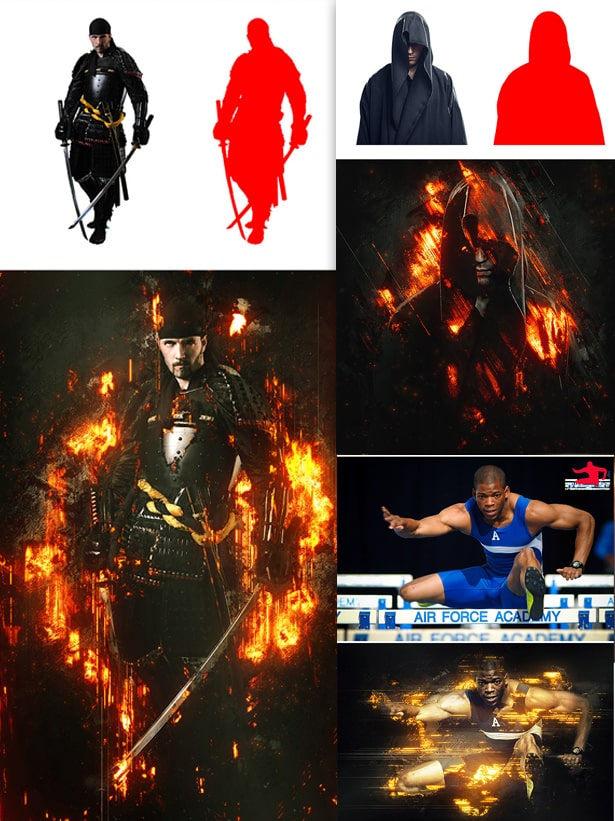 Descargar acciones explosión furia de fuego Photoshop