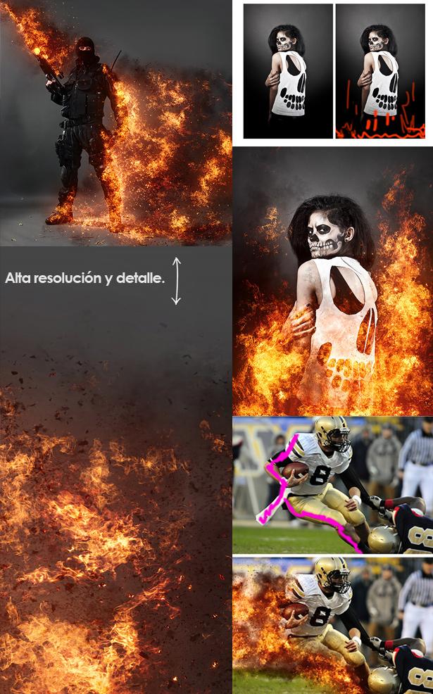 Descargar acción Tormenta de fuego Photoshop