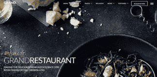 Descargar plantillas restaurante de themeforest.